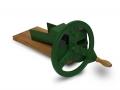 Rezačka na žihľavu a trávu pre hydinu